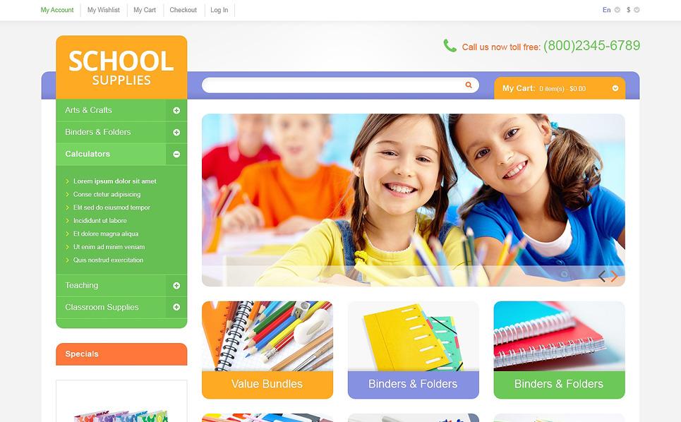 """Magento Theme namens """"Bildungs und Schulmaterialien"""" New Screenshots BIG"""