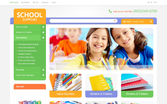Educational School Supplies Magento Theme
