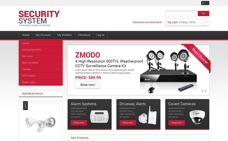 """Système de sécurité"" thème Magento adaptatif New Screenshots BIG"