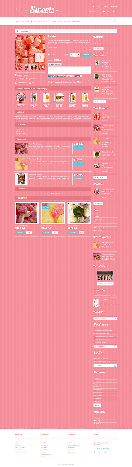 ADOBE Photoshop Template 47888 Home Page Screenshot