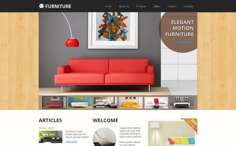 Responsive Website Vorlage für Möbel  New Screenshots BIG
