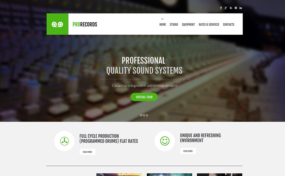 Responsive Website template over Opnamestudio  New Screenshots BIG