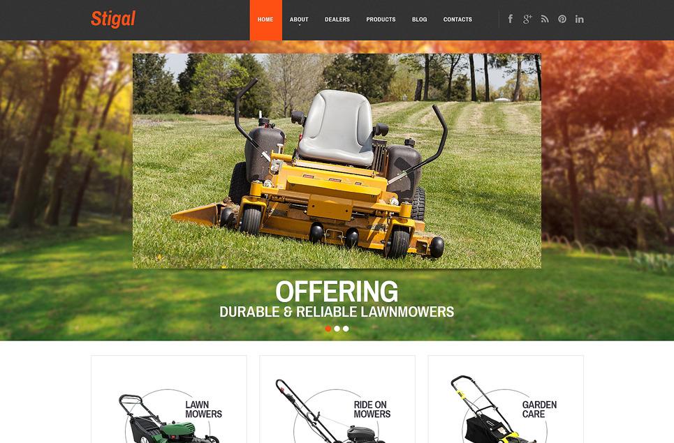 Адаптивный шаблон сайта на тему ландшафтный дизайн #47859