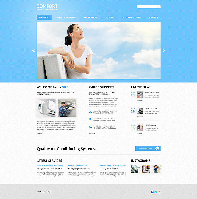 Air Conditioning Responsive Joomla Template New Screenshots BIG
