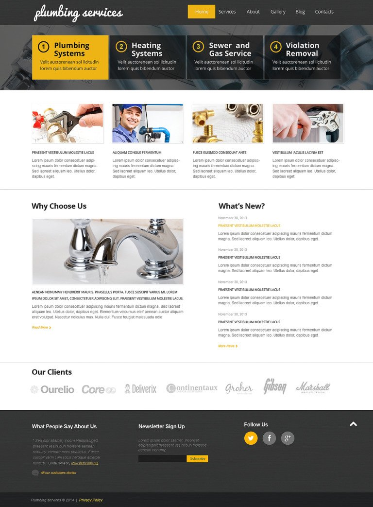 Best Plumbing WordPress Theme New Screenshots BIG