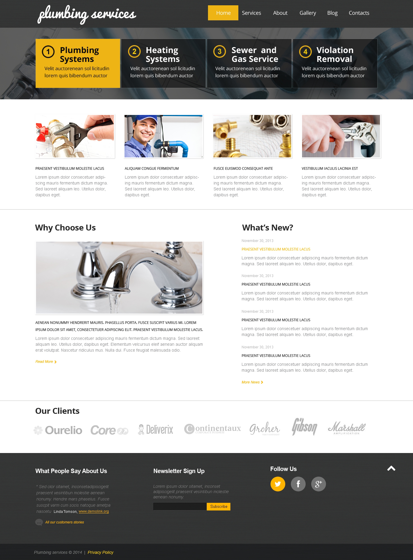 Best Plumbing WordPress Theme #47834