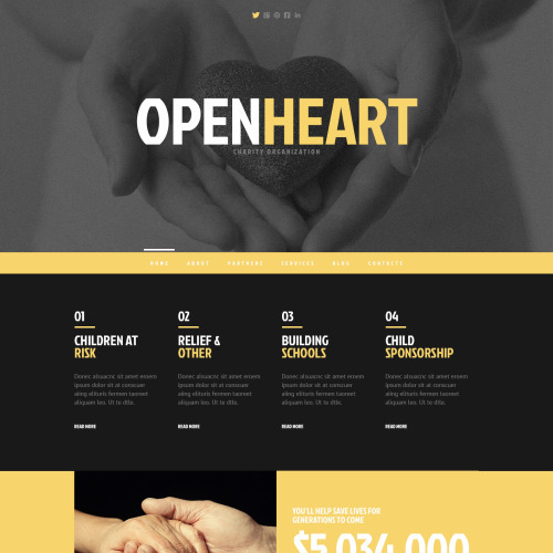 Open Heart - WordPress Template based on Bootstrap