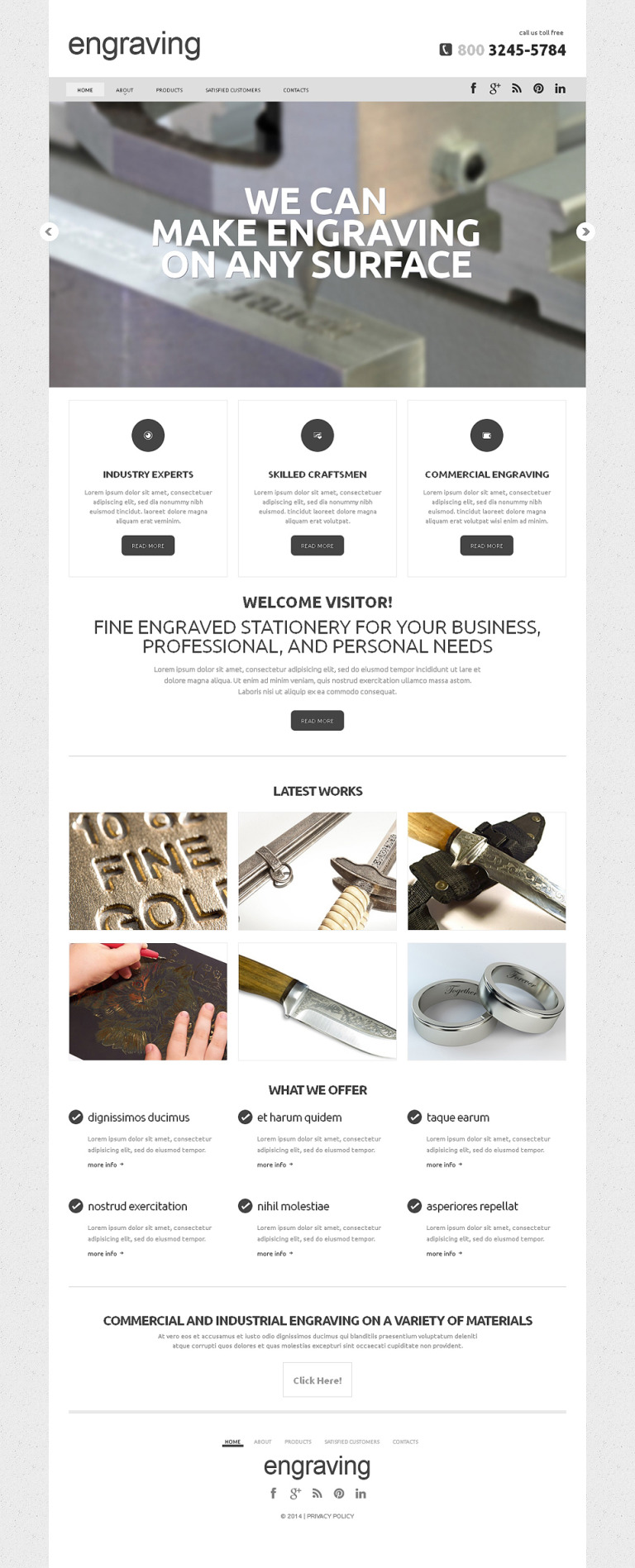 Crafts Responsive Website Template New Screenshots BIG