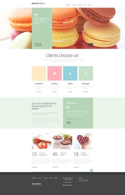 Sweet Shop Drupal шаблон