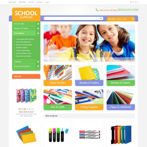 School Supplies - Responsive Magento Template