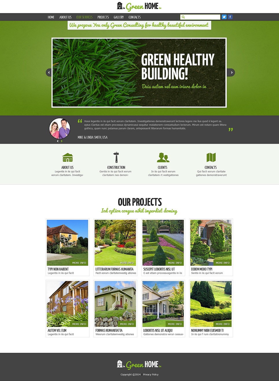 Exterior design responsive website template 47844 for Exterior design website templates