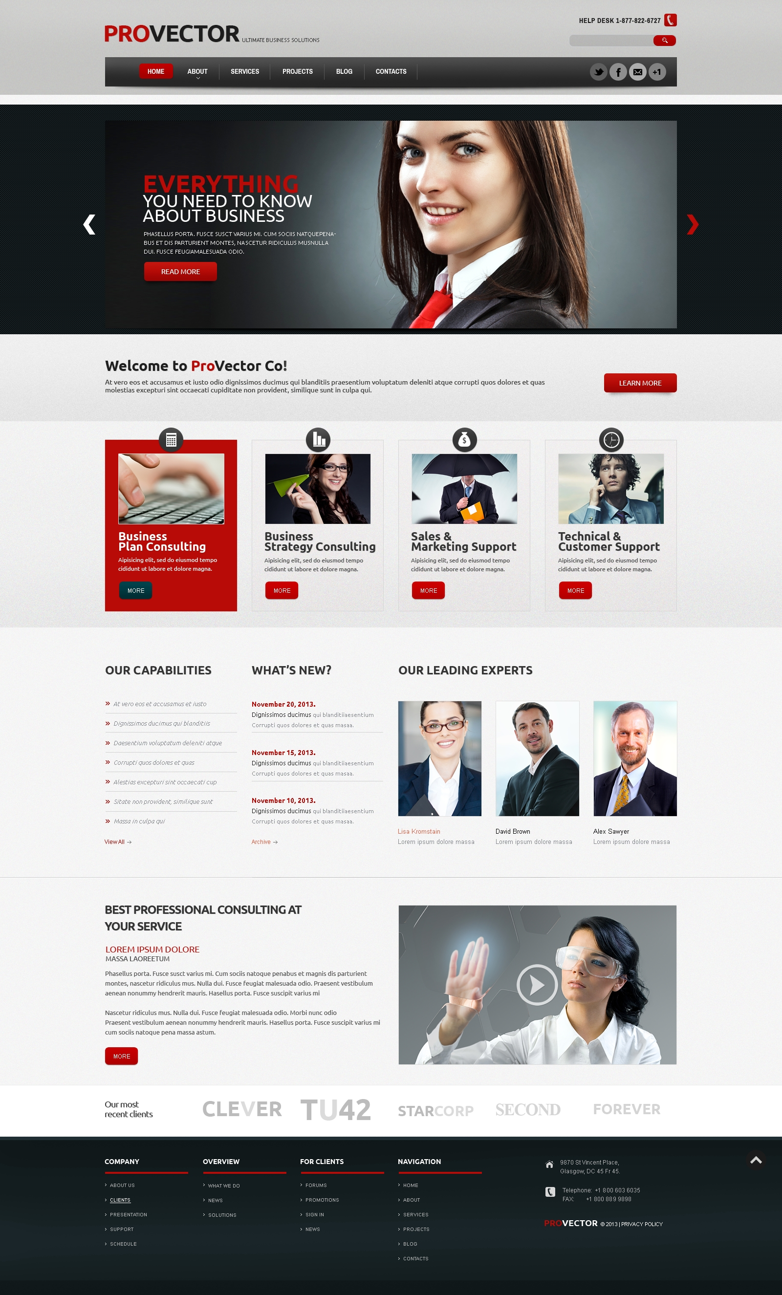 Financial Advisor Responsive WordPress Theme - screenshot