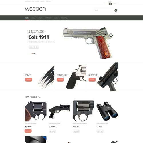 Weapon - WooCommerce Template based on Bootstrap