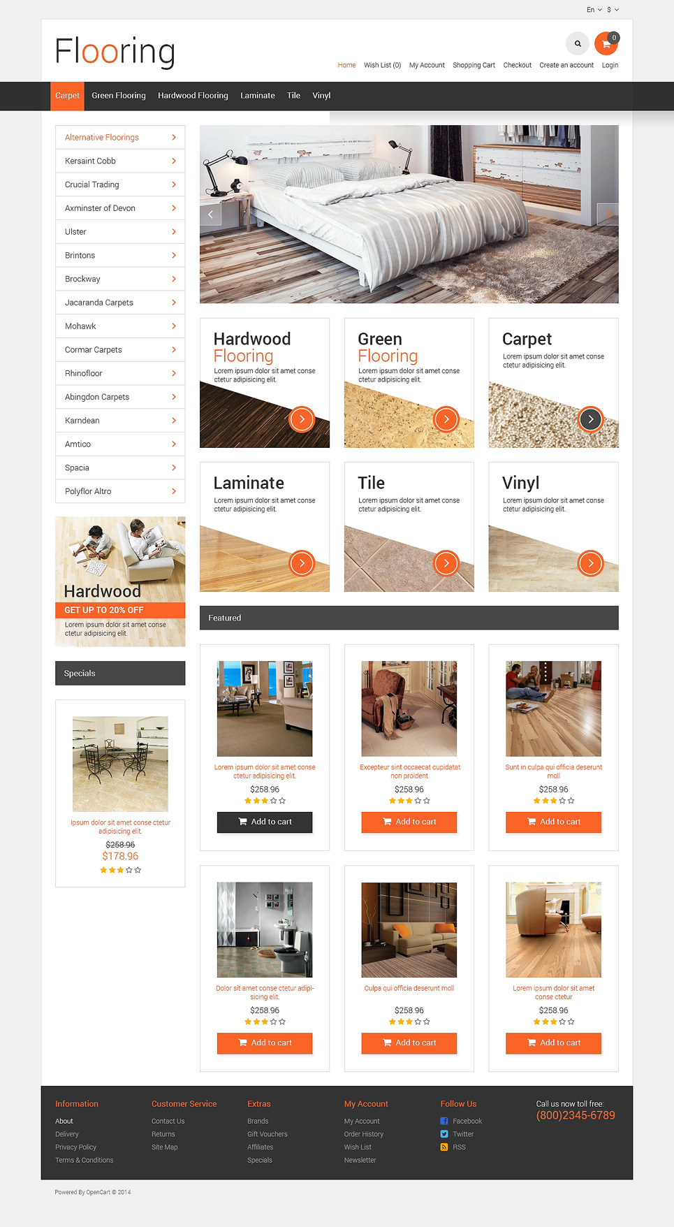 Flooring Responsive OpenCart Template New Screenshots BIG