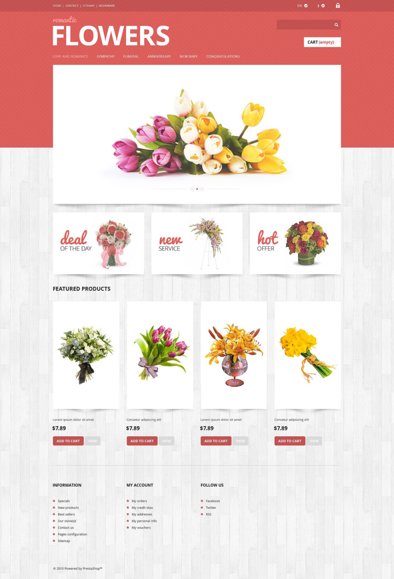 Flowers Shop PrestaShop Theme New Screenshots BIG