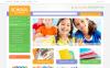 """Fournitures scolaires"" thème Magento adaptatif New Screenshots BIG"
