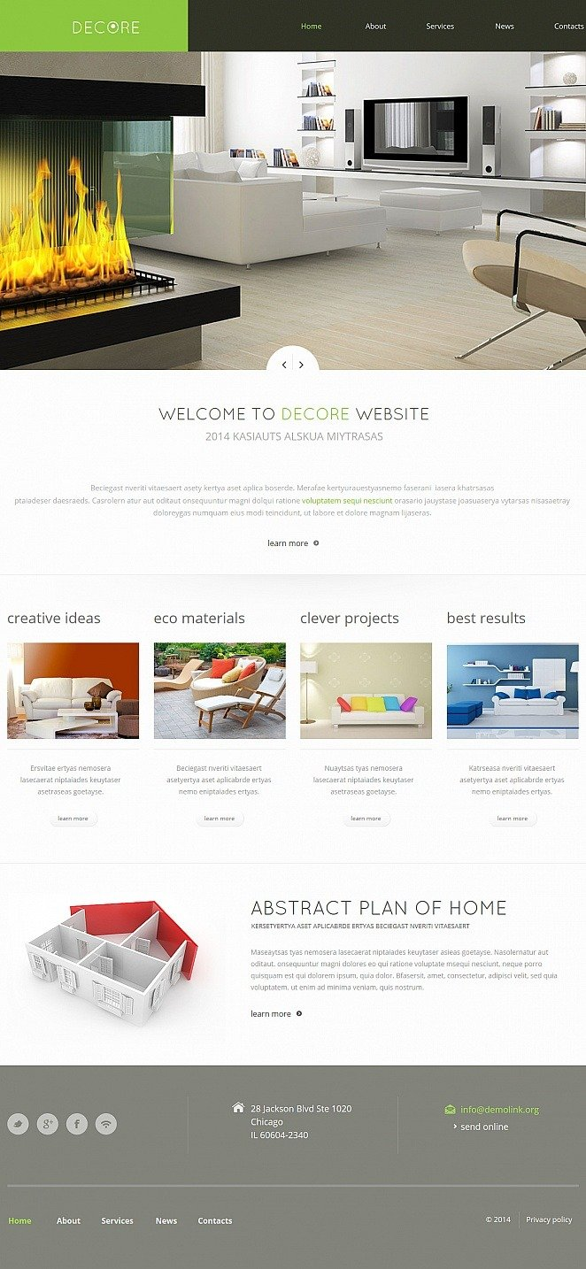 Home Decor Moto CMS HTML Template New Screenshots BIG