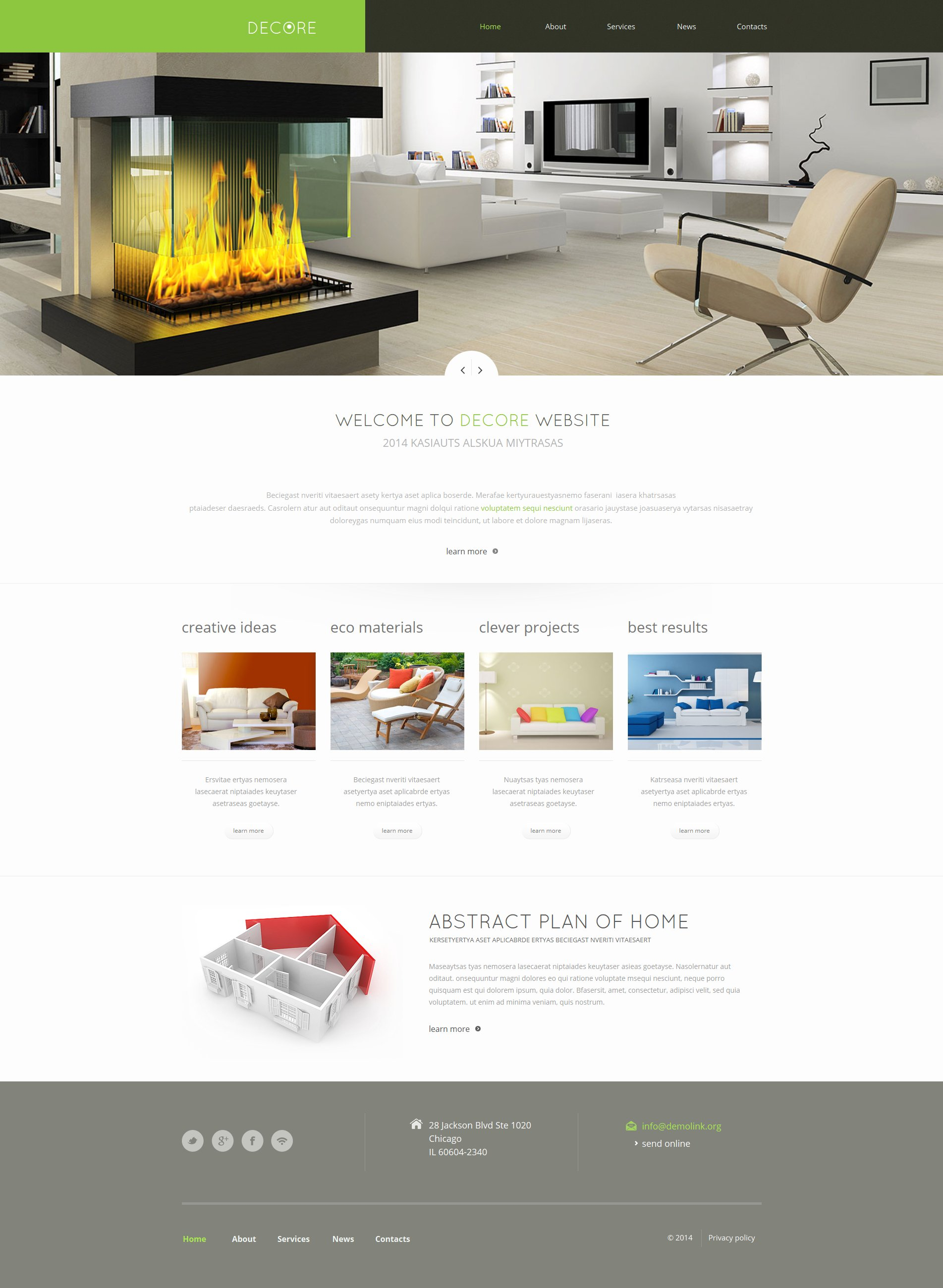 Home Decor Moto CMS HTML Template
