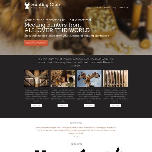 Hunting Club - HTML5 Drupal Template