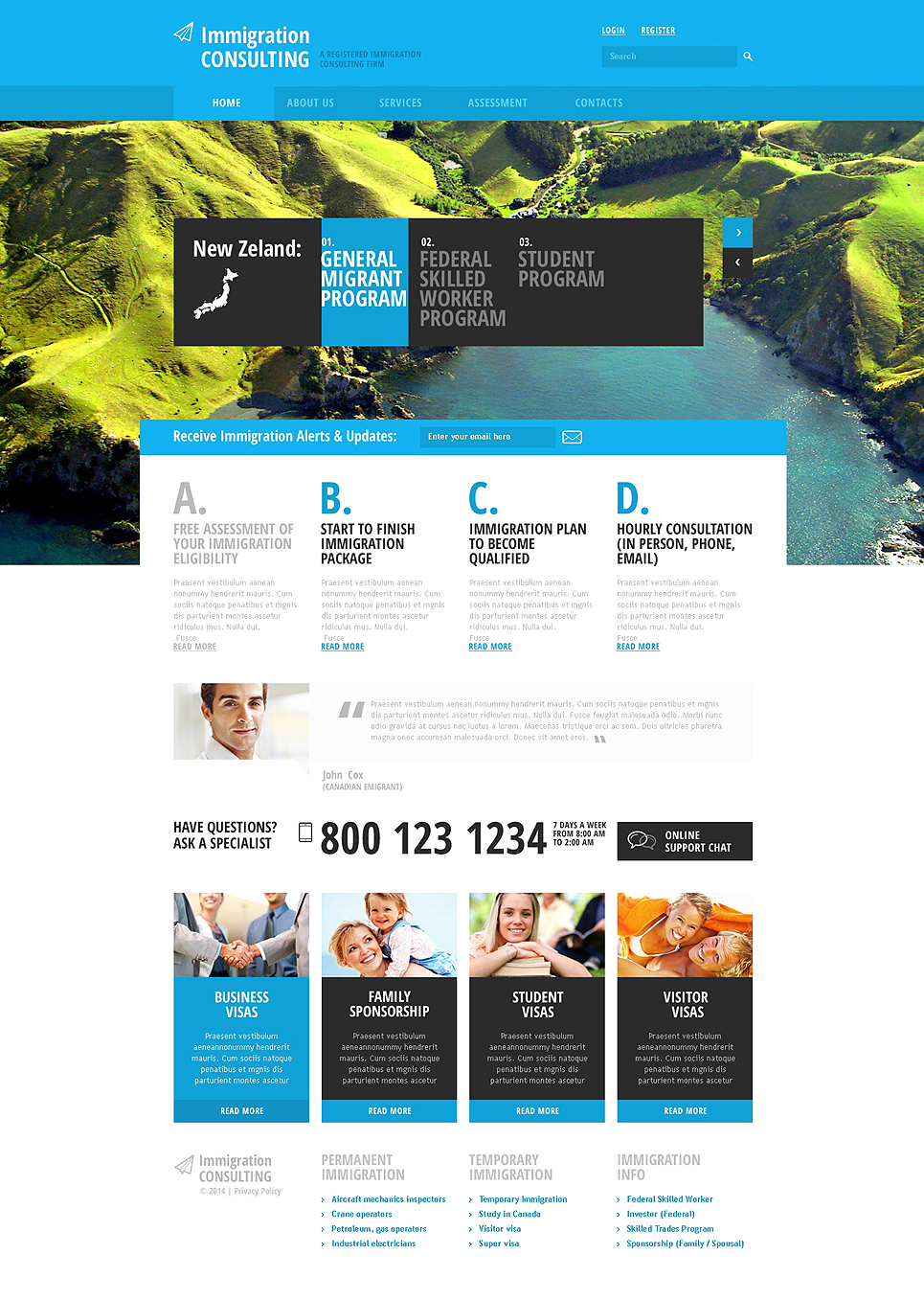 Immigration Consulting Responsive Website Template #47841