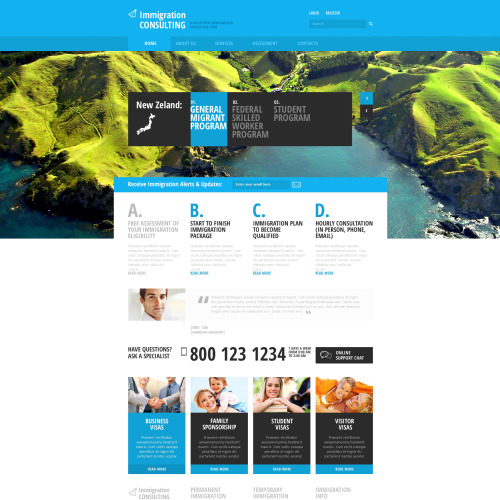 Immigration Consulting - Responsive Website Template