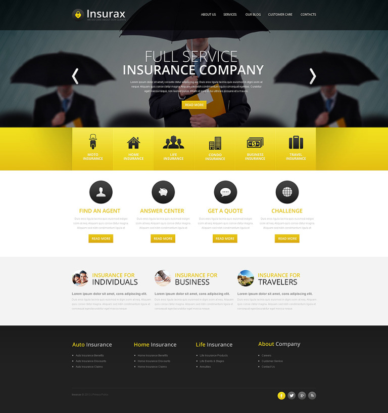 Insurance Drupal Template New Screenshots BIG