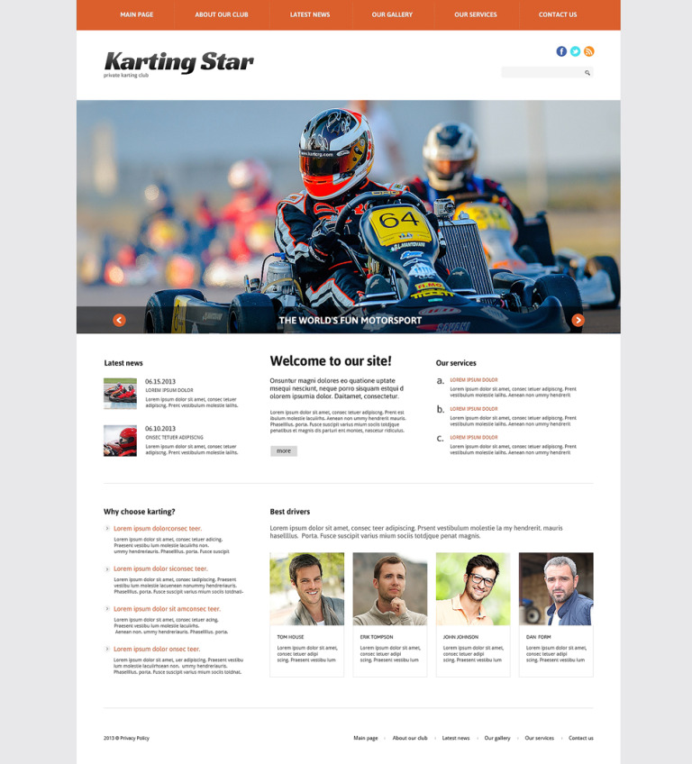 Karting Responsive WordPress Theme New Screenshots BIG