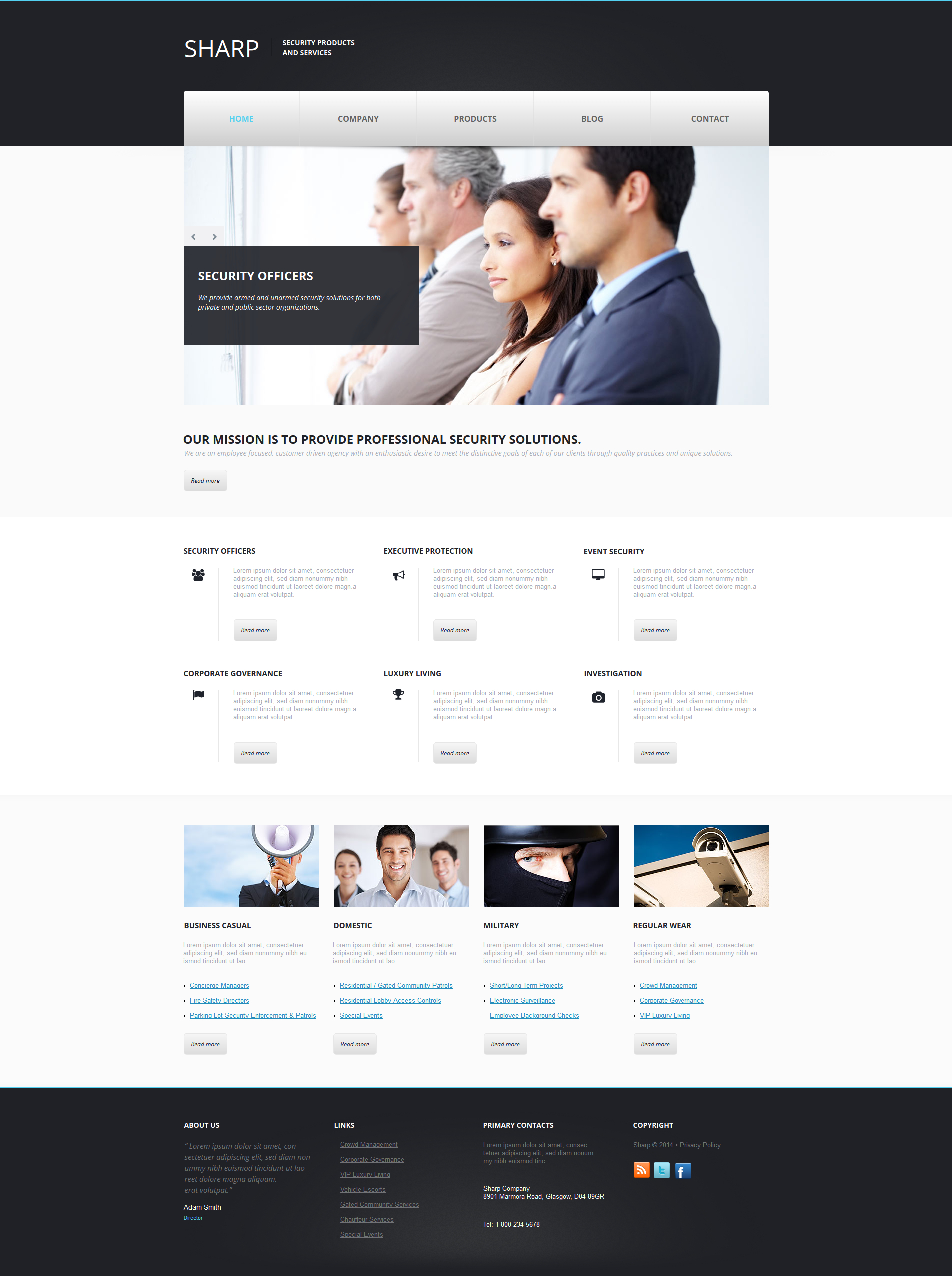 Locksmith Moto CMS HTML Template