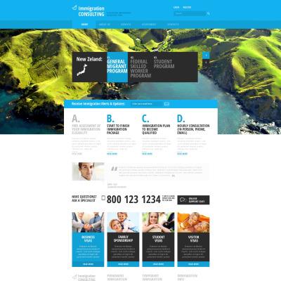 Modèle Web adaptatif  pour site de société de conseil d'immigration
