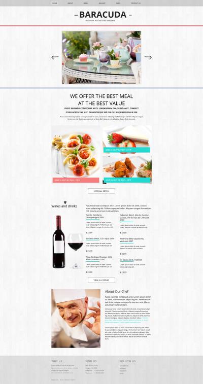 Cafe MotoCMS HTML шаблон