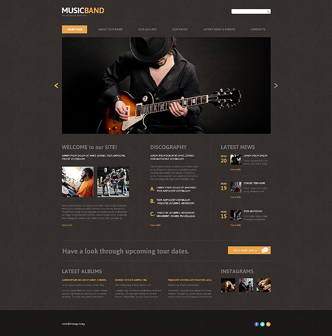 Music Band Responsive Joomla Template New Screenshots BIG