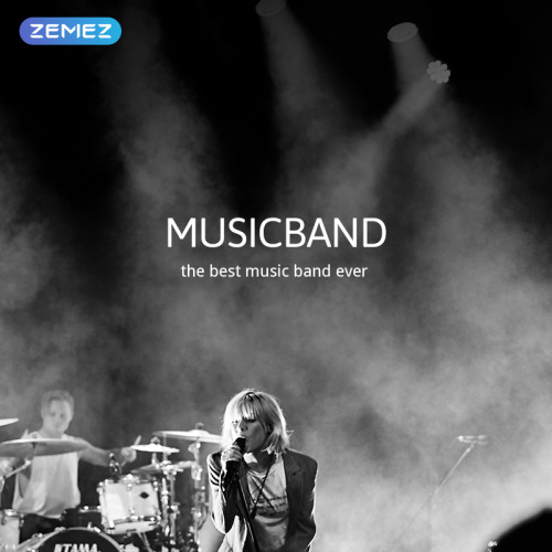 Music Band - Joomla! Template based on Bootstrap