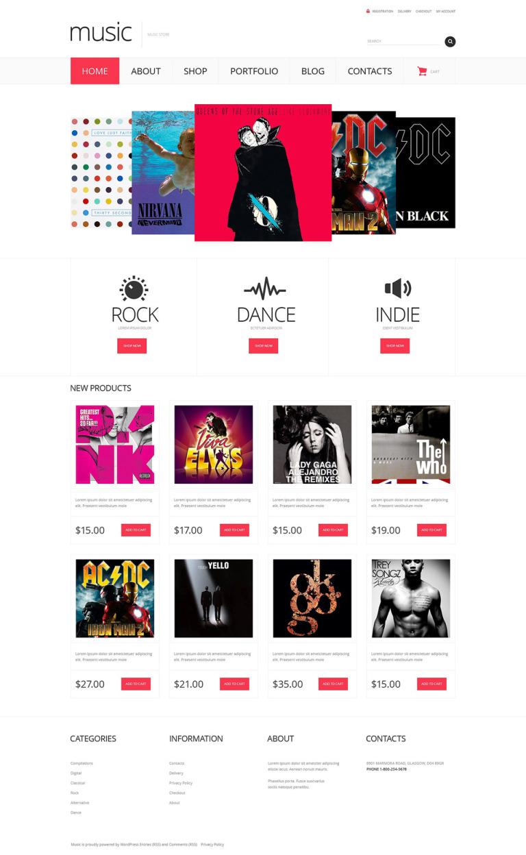 Music Store Responsive WooCommerce Theme New Screenshots BIG