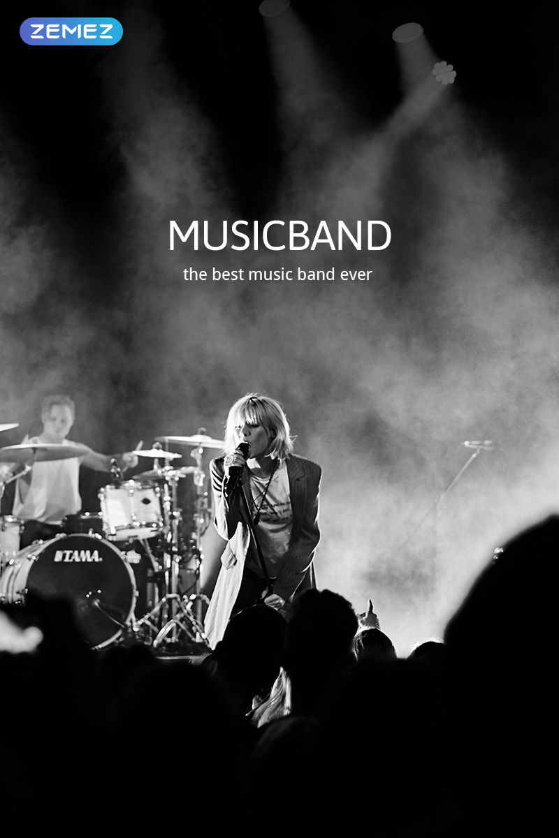 "Plantilla Joomla ""Musicband - Music Band Stylish"" #47851 - captura de pantalla"