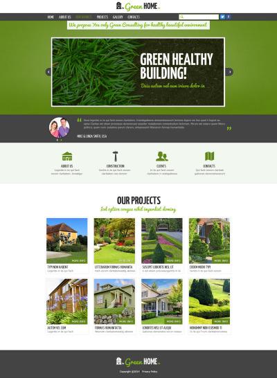 Responsive Plantilla Web #47844 para Sitio de  para Sitio de Diseño de exteriores