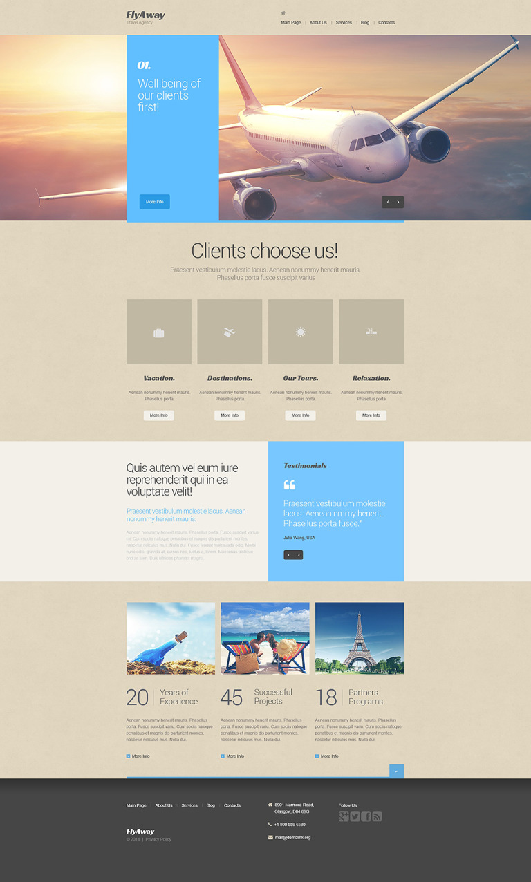 Private Airline Drupal Template New Screenshots BIG