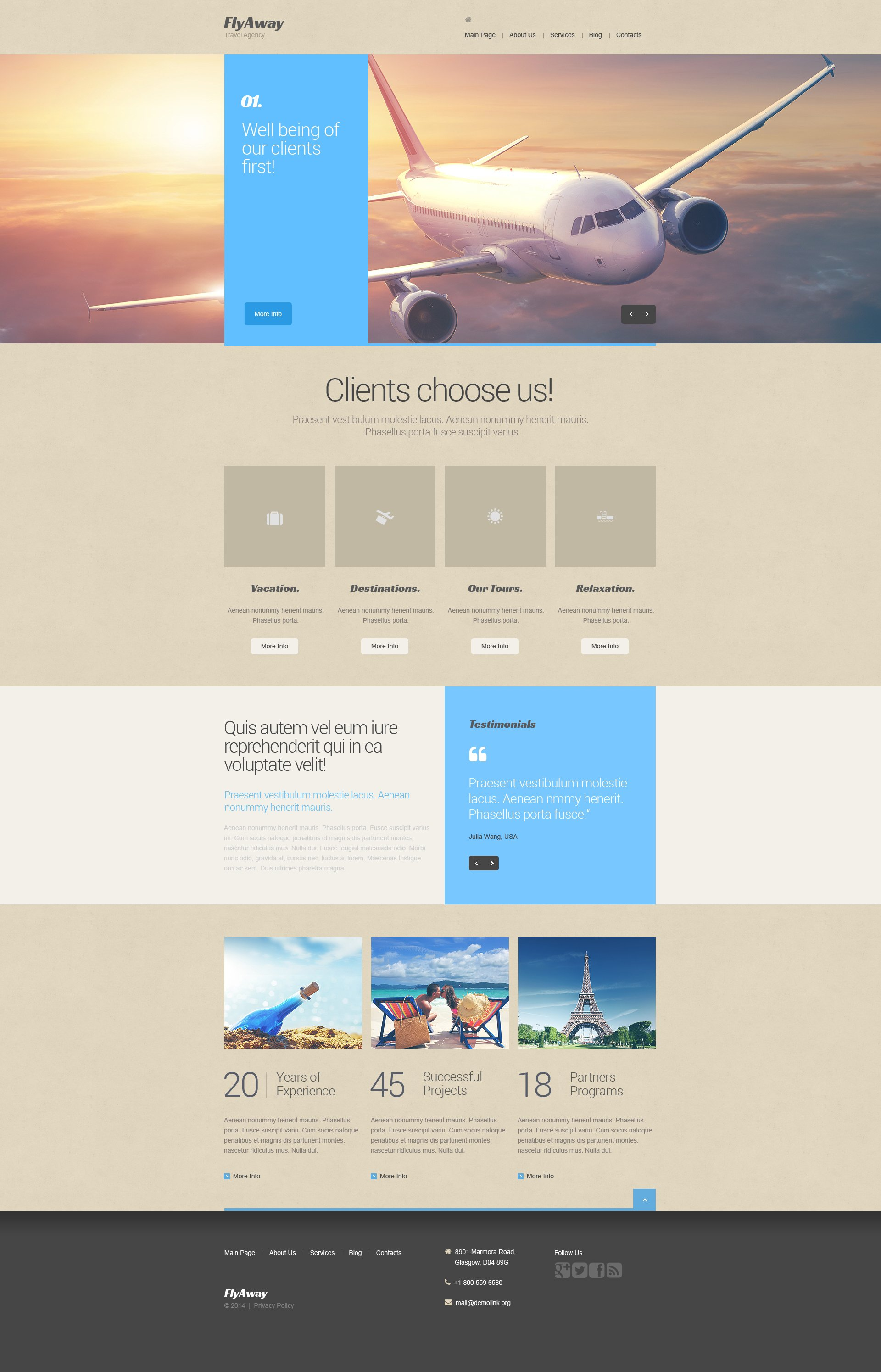 Private Airline Drupal Template