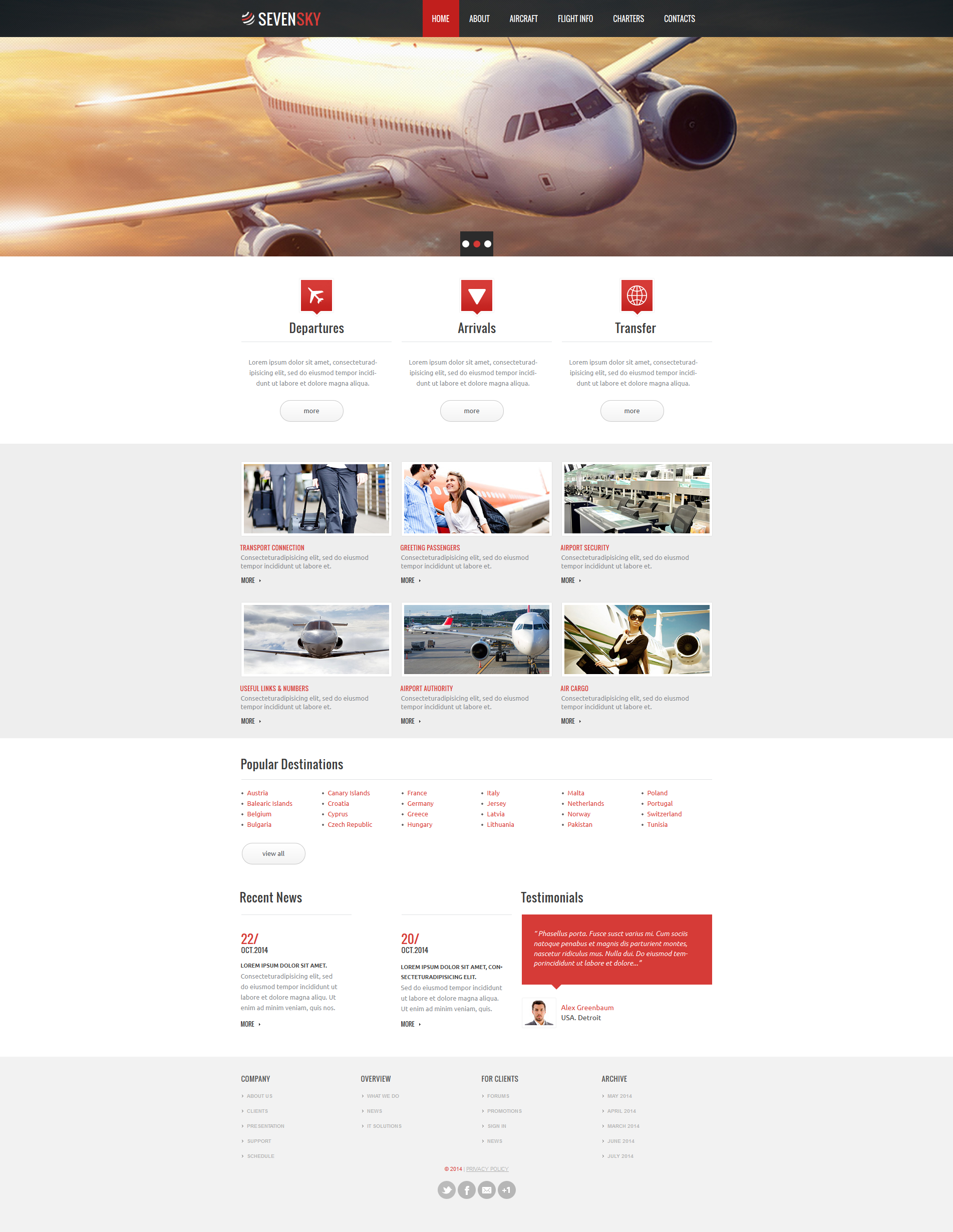 Private Airline Moto CMS HTML Template
