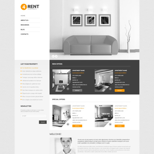 4Rent - WordPress Template based on Bootstrap