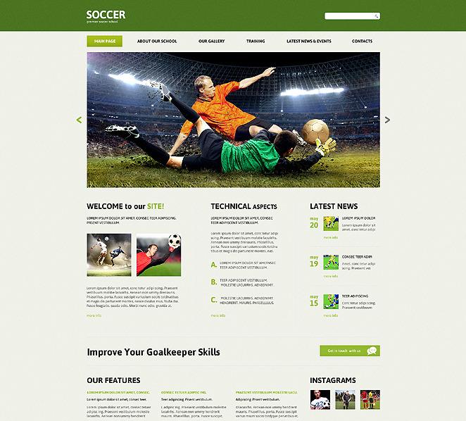Responsive Amerikan Futbolu  Joomla Şablonu New Screenshots BIG