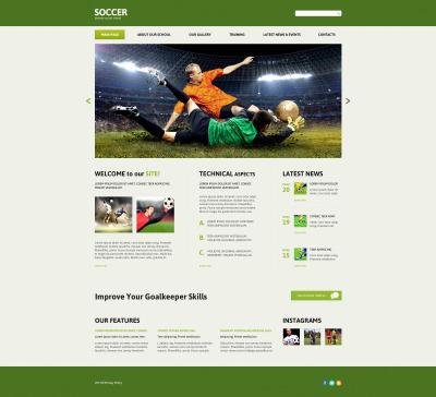 Soccer Responsive Joomla Şablonu