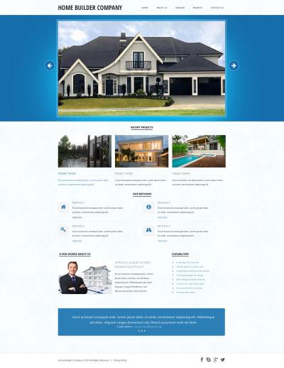 Construction Company Responsive Web Sitesi Şablonu
