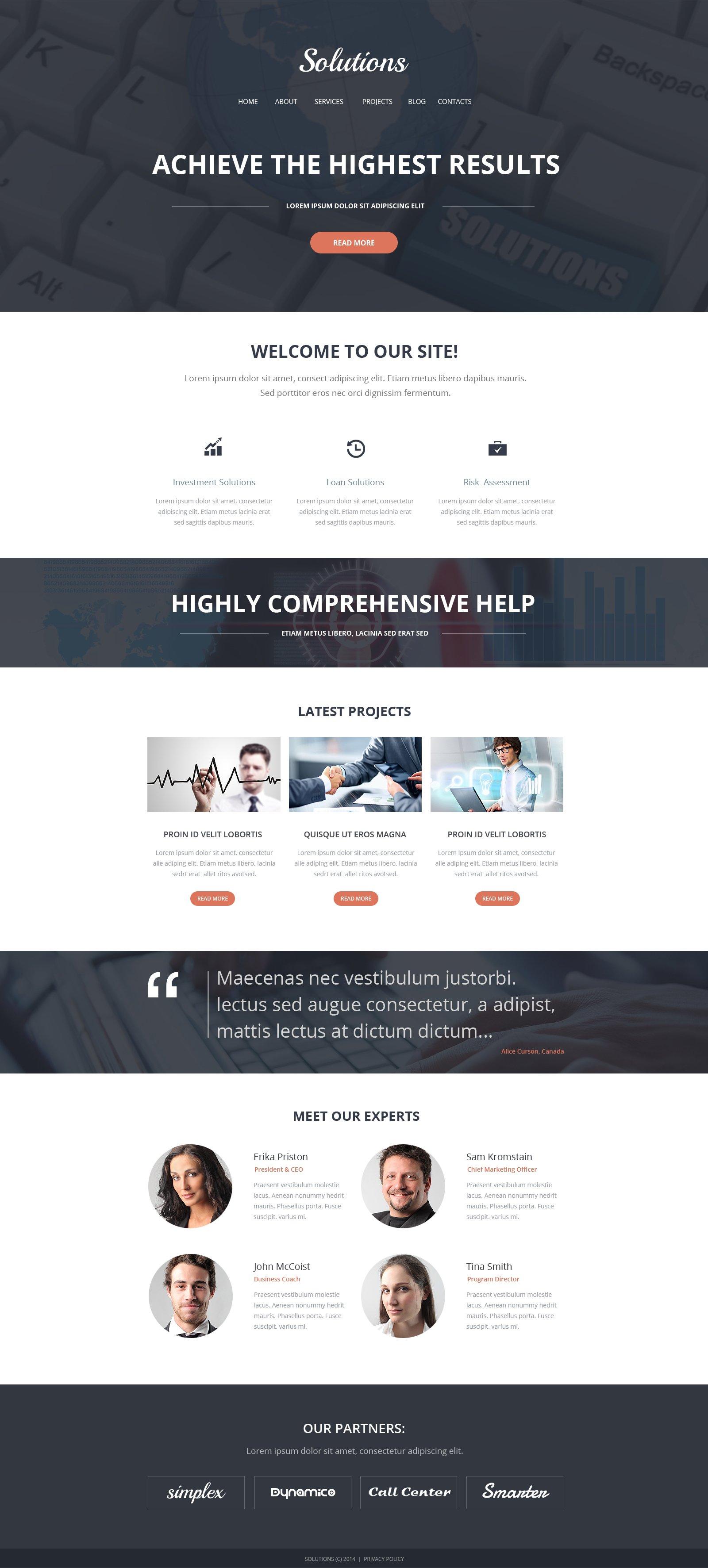 Responsive Website Vorlage für Dienstleistungen-für-Händler #47889 - Screenshot