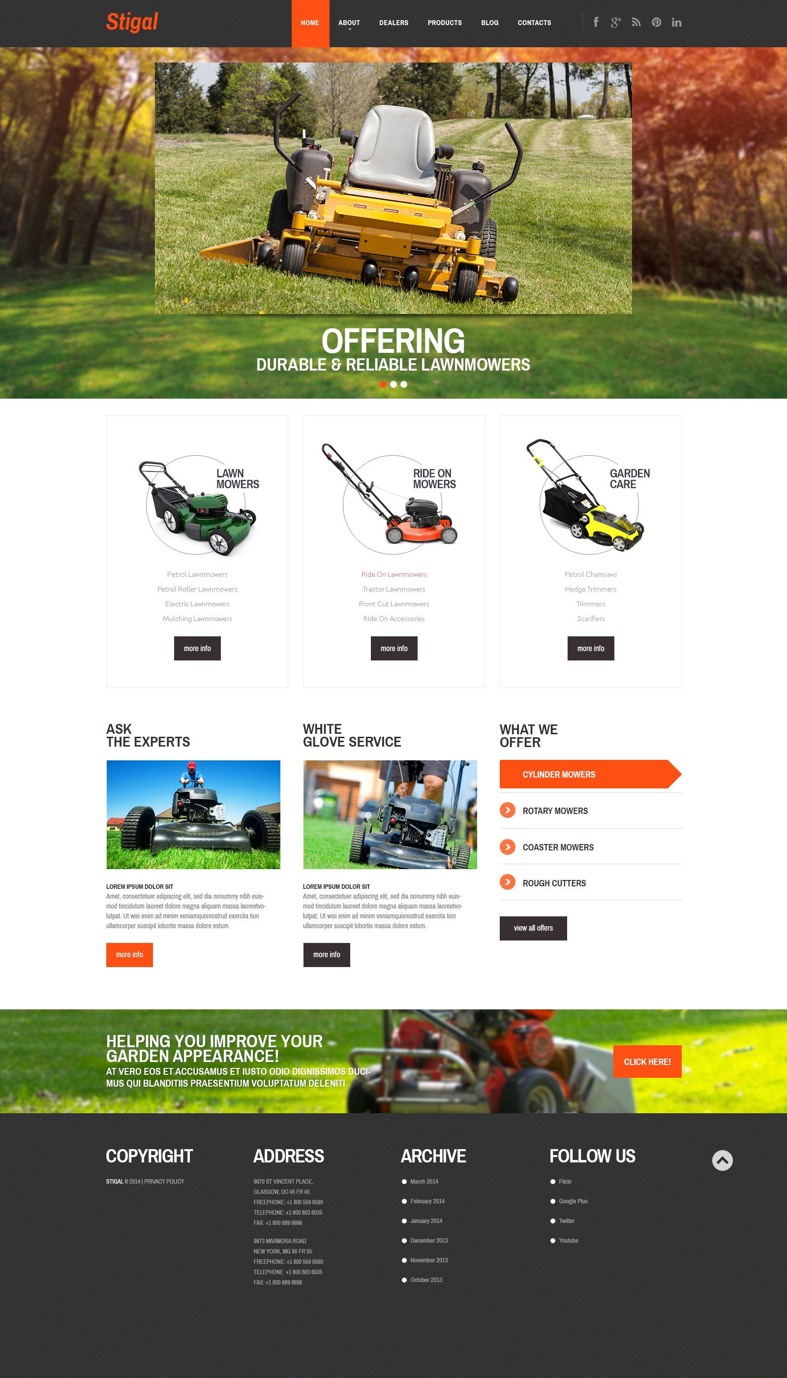 Responsive WordPress thema over Landschapsontwerp №47859