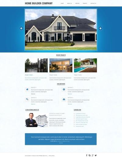 Responsywny szablon strony www #47802 na temat: firma budowlana