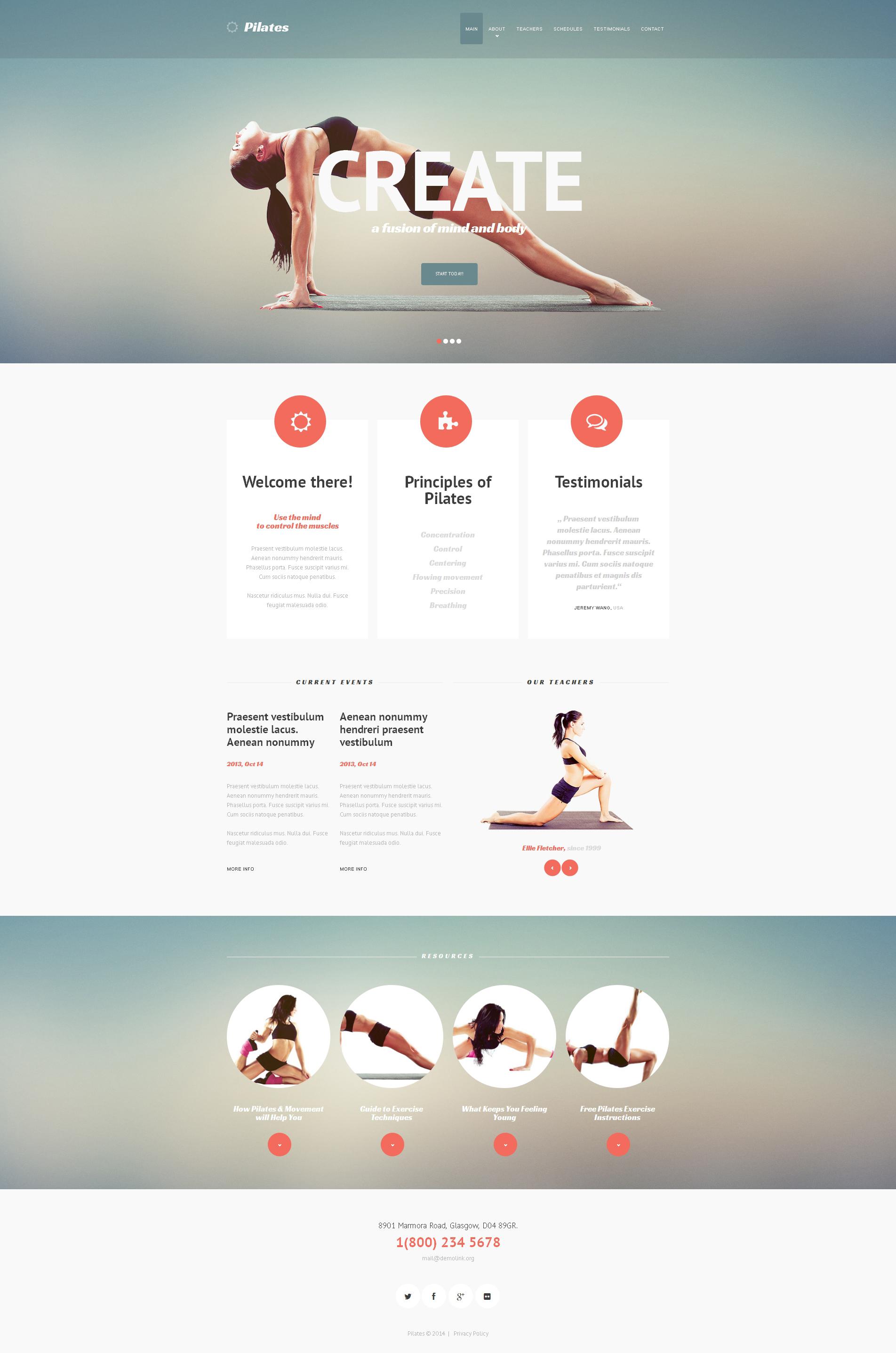 Responzivní Šablona webových stránek na téma Fitness #47892