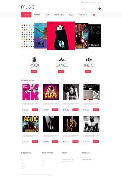 Music Store Responsive WooCommerce Motiv