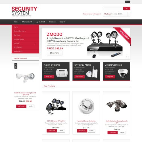 Security Systems - Responsive Magento Template