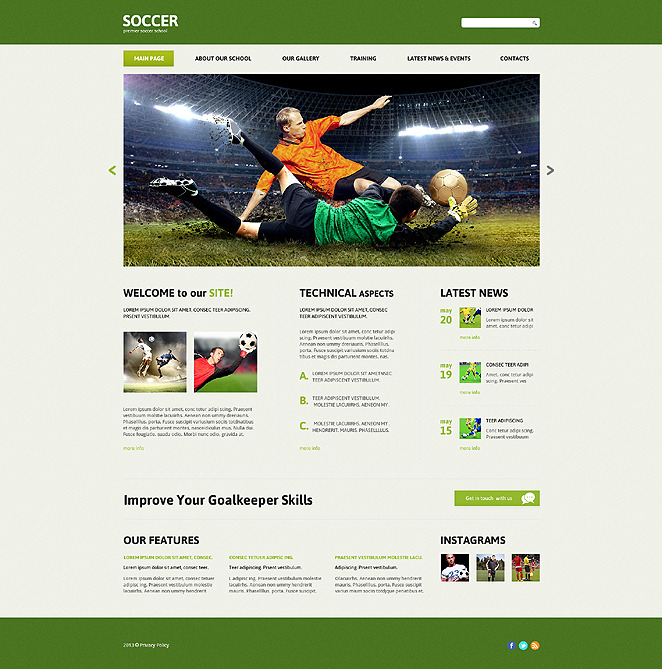Soccer Responsive Joomla Template New Screenshots BIG