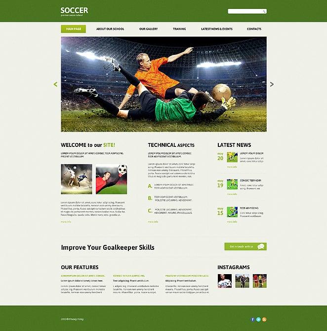 Soccer Responsive Joomla Template New Screenshots BIG